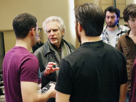 David Cronenberg came to campus as a surprise visit for IDIS 210 students on Tuesday evening.