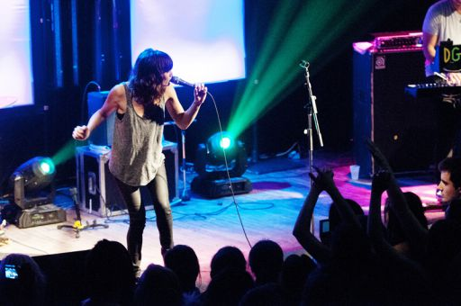 Singer-songwriter Martina Sorbara of Dragonette performs at Ale House on Wednesday night.