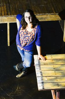 Brittany Allan has dealt with last-minute issues including substituting a piano with a painted picnic bench.