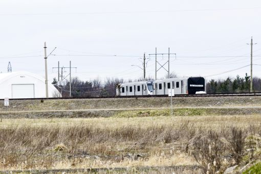 The Bombardier test track in Mill Haven is testing fibre-reinforced polymer bars.