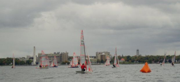 The sailing team finished fourth at Cornell University's North Spring Qualifier last weekend.