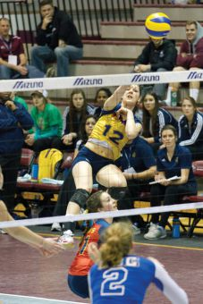 Women's volleyball outside hitter Natalie Gray came up big during the OUA final four in February.