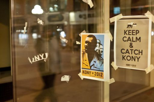 Queen's Does Kony 2012 posters could be seen around Princess St. on Friday night.