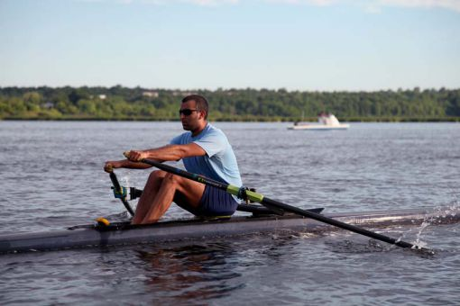 Men's rowing captain Rami Maassarani begins training at 5:15am every day.