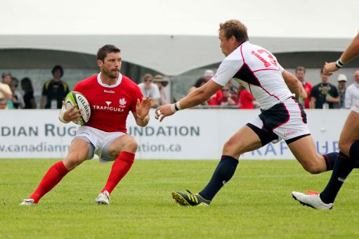 Canadian fullback James Pritchard scored 13 points against the United States on June 9.