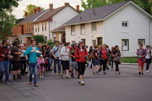 100 people gathered in McBurney park on June 6 to bang their pots and pans for the second Casseroles night.
