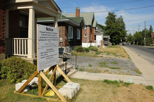 If granted permission by the city, the townhouses will be constructed and rented out for Sept. 2013.