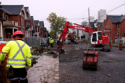 Over 70 houses are currently affected by the reconstruction project.
