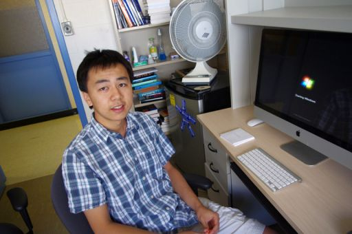 Junhui Long, MSc '13, wrote the software that repairs the holes in the 3D scans of the dinosaur specimens.