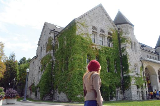 Queen's University attracts some private school students for its smaller size and sense of tradition.