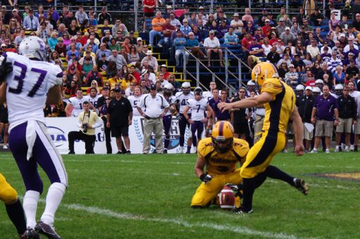 Kicker Dillon Wamsley has made eight field goals through three games, which leads the OUA.