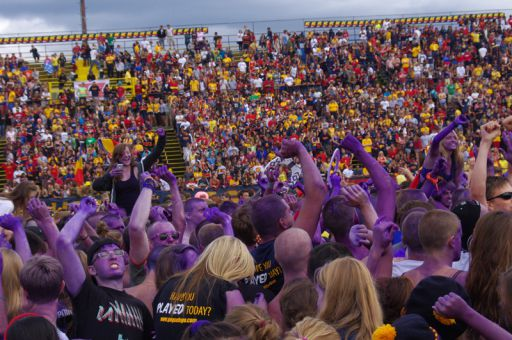 Over 10,000 students attended this Saturday's football game at Richardson Stadium.