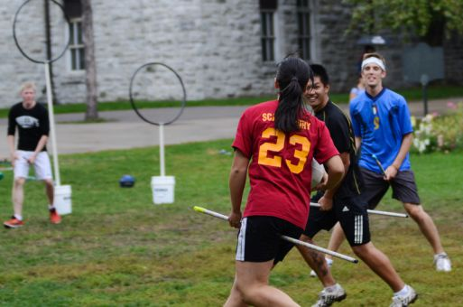 Queen's Quidditch Club held try-outs over three days last week for its competitive team.