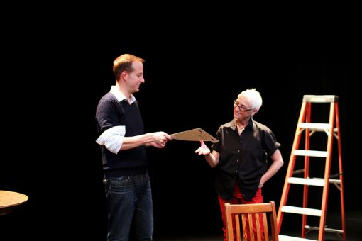 In the play White Rabbit, Red Rabbit, one actor receives the script for the first time at the very beginning of the show. They then start to read — solo.