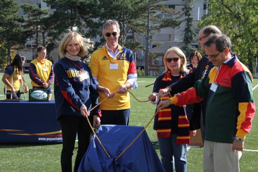 Queen's celebrated the grand opening of Nixon Field on Saturday.