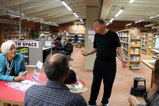 The opening night of The Library Chronicles only ran two out of four individual plays.
