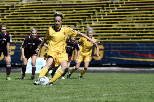 Tessier has scored 53 goals in four seasons with Queen's, leading the team to national titles in 2010 and 2011.