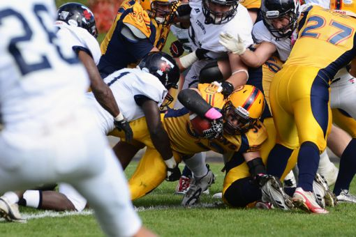Running back Ryan Granberg rushed for 98 yards against Toronto, but was injured late in the game.