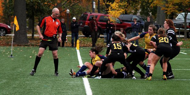 The women's rugby team fell to the powerhouse Guelph Gryphons in the OUA final, but held Guelph to their lowest offensive showing of the season.