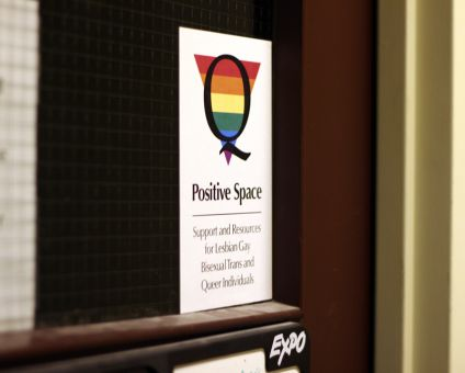 Many faculties have Positive Space stickers, Positive Space committee coordinator says.