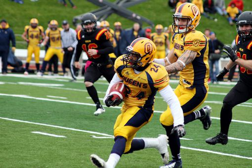 Defensive back TJ Chase-Dunawa scored on a 34-yard punt return late in the second quarter against Guelph.