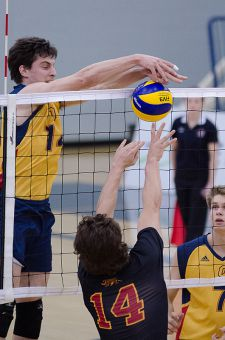 """Fifth-year setter Jackson Dakin says this Sunday's effort against Waterloo was """"a huge improvement from the first semester."""""""