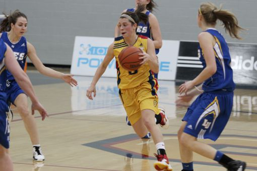 Without co-captains Liz Boag and Sydney Kernahan, the Gaels captured a 74-69 home victory.