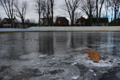 Victoria Park's outdoor rink, one of 17 outdoor rinks in Kingston, has been out of service for the entire winter, due to mild weather conditions.