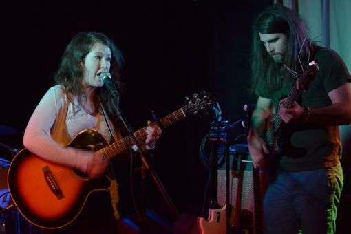 Both Lonnie in the Garden (left) and Wild Domestic (right) brought a guttural sound to their performances on Sunday.