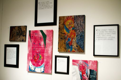 Artist Melissa Smallridge uses examples from her friends to create the pieces of work in her exhibit Stories in Ink.