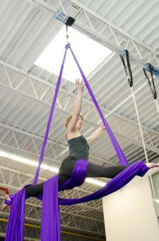 A student attempts the splits balance, a sequence Ball created. For a full photo gallery visit queensjournal.ca/photos