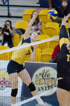 Fifth-year Colleen Ogilvie leads the Gaels in kills.