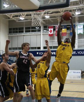 Fifth-year forward Bernard Burgesson suited up for the first time this season on Friday, snagging four rebounds.