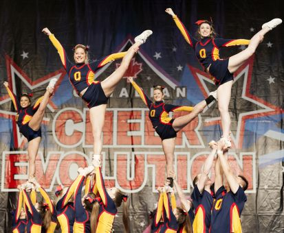 Queen's cheerleading team won the Big East Blast on Saturday.