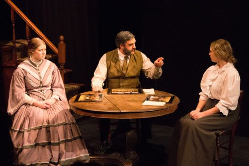 Sharon Pollock's Blood Relations tells the story of Lizzie Borden and how she brutally murders her father (centre) and stepmother (left).