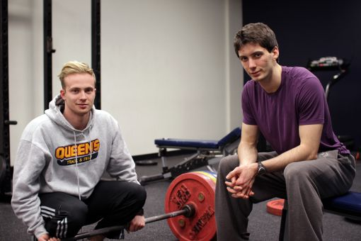 Storm Patterson (left) and Callum Owen have mobilized a regular corps of CrossFit participants, with over 550 group members on Facebook. They're currently trying to become a sanctioned club.