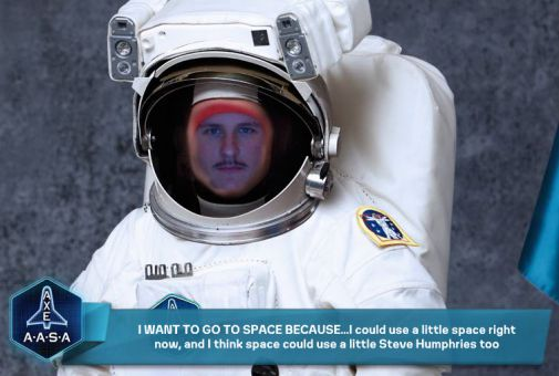 Steven Humphries (above) is doing well in the contest, the winners of which will undergo space training in Florida.