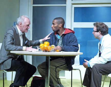 In Blue/Orange, based on the script by British writer Joe Penhall, two doctors in a psychiatric hospital argue over the best treatment for a patient that might have schizophrenia.