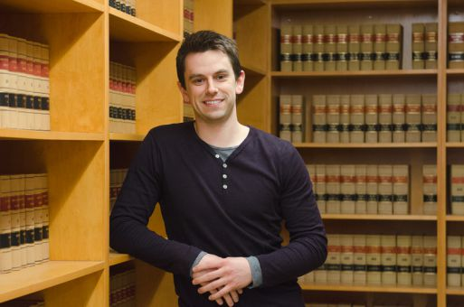 Riley Whitlock came to Queen's to study law after three years at the University of Ottawa.