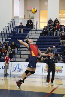 Second-year middle blocker Tyler Scheerhoorn ranked sixth in the OUA with 38.5 total blocks.