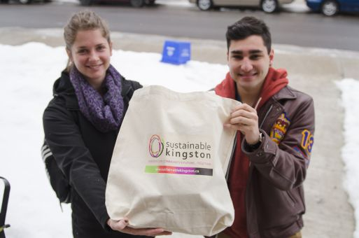 Students can fill their reusable bags with produce for $1 off the original $10 fee.