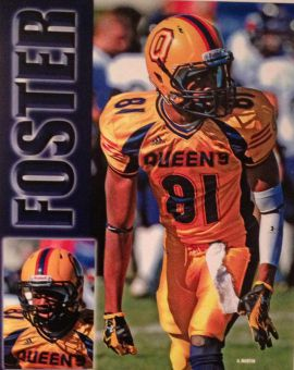 Jayevan Foster played receiver for the Gaels football team for four seasons, from 2008 to 2011.
