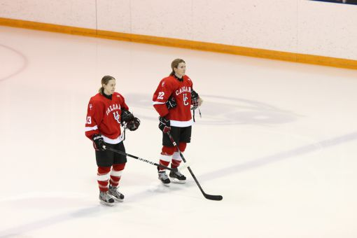 Calgary Dinos forward Hayley Wickenheiser scored a goal and an assist against Queen's.