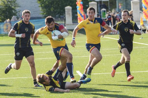 Fourth-year winger Graham Turner competed with Queen's in Langford, B.C. earlier this month in the CIS University Sevens Tournament.