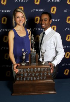 Julie-Anne Staehli and Mo Hamour were named Club rookies of the year at the Colour Awards.