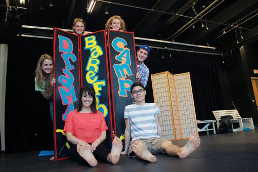 Barefoot Players during rehearsal of Play On!, an adaptation of Shakespeare's Twelfth Night.