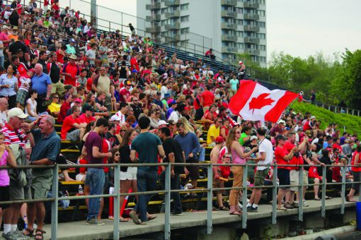 Last June, 7,521 spectators filled Richardson Stadium for an international rugby match between Canada and the United States.