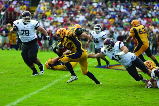 Queen's leading rusher in 2012, fifth-year running back Ryan Granberg managed 26 yards on 11 carries against McMaster.