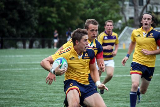Liam Underwood scored 21 points against Laurier: two tries, one penalty goal and four conversions.