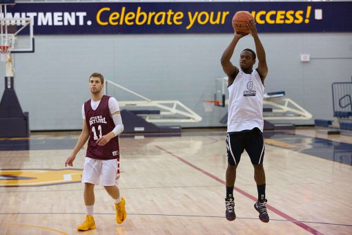 A dozen hopefuls took part in the walk-on tryouts, scrimmaging with the current members of the Gaels.